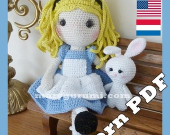 Crochet Pattern, pattern, tutorial, Amigurumi doll, Alice