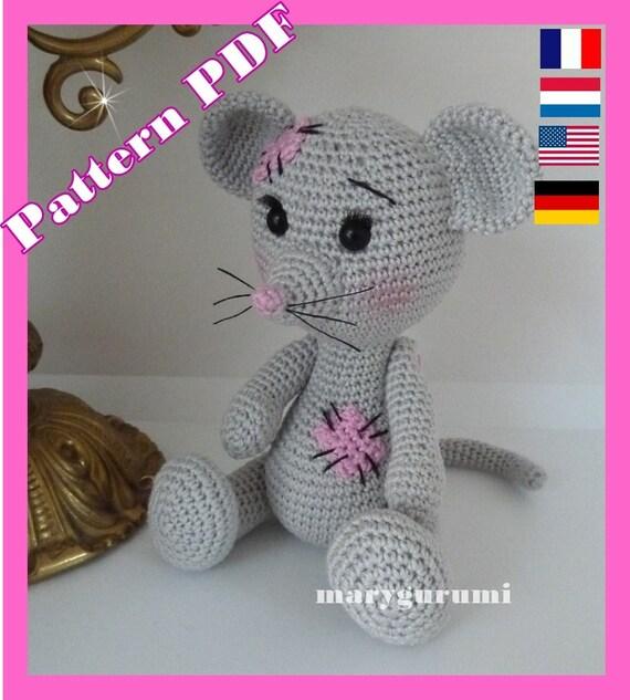 Crochet Pattern Pattern Tutorial Amigurumi Nini Mouse