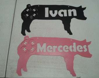 4H Animal Silhouette Name Sign's