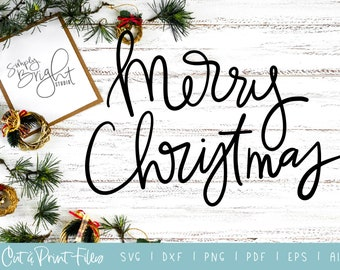 Svg Cut Print Files Blessed Christmas Quote Cricut Etsy