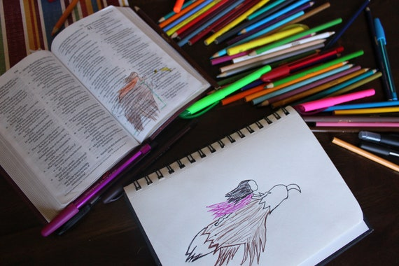 Isaiah 62:1 Scripture Doodle of Encouragement CardPrayer CardScripture MagnetScripture CardIsaiah 62 1 Scripture ArtBible DoodleJesus