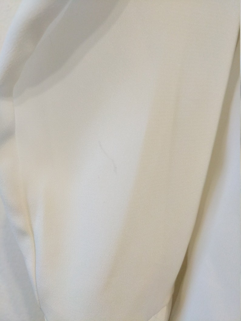 Vintage 80s Romantic White Long Sleeve Top Yves St Clair