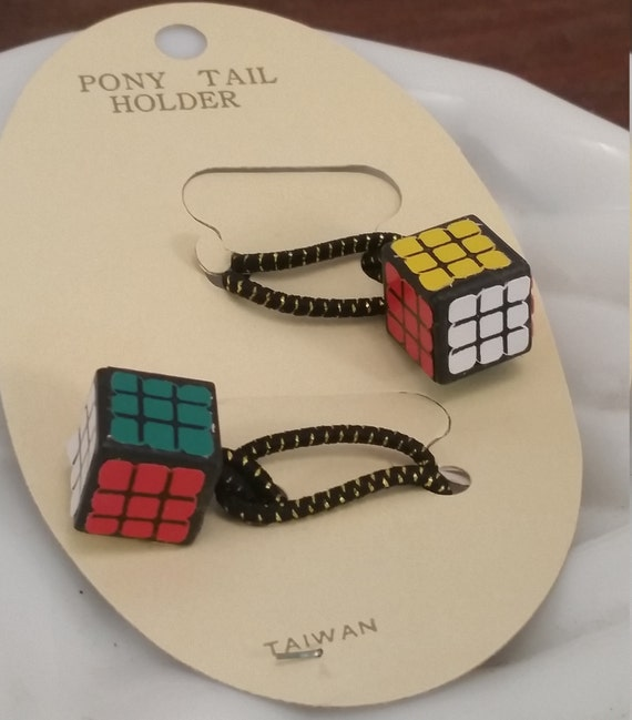 Vintage Rare Rubix Cube New Old Stock Pony Tail Ba