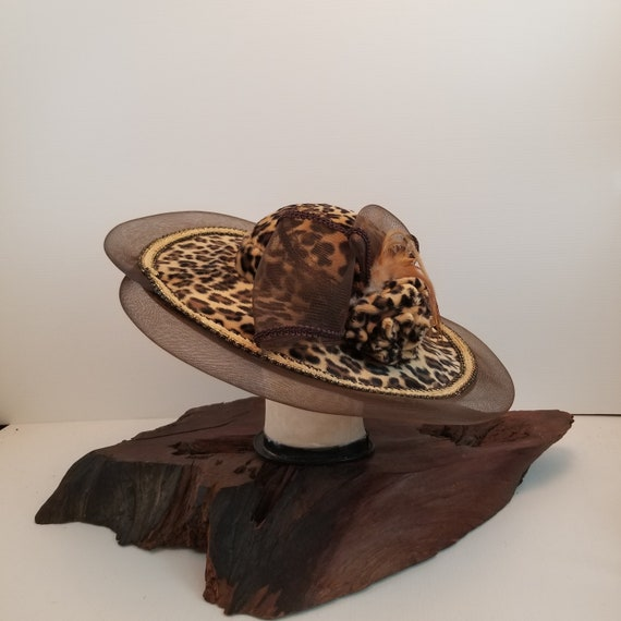 Amazing Leopard Women's Fur and Wool Hat, Brown Me