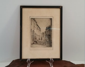Vintage Lithograph Signed Elizabeth O'Neil Verner,  Do As You Choose Lithograph Signed By Artist,  Charleston Native And Art Signed