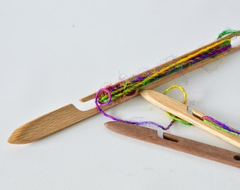 Amazing Squid And Swordfish Needle End Stick Shuttle For Small Loom Weaving 2 Sizes  Long Delicate Work Rigid Heddle Tapestry 4 6 Multiple Shaft