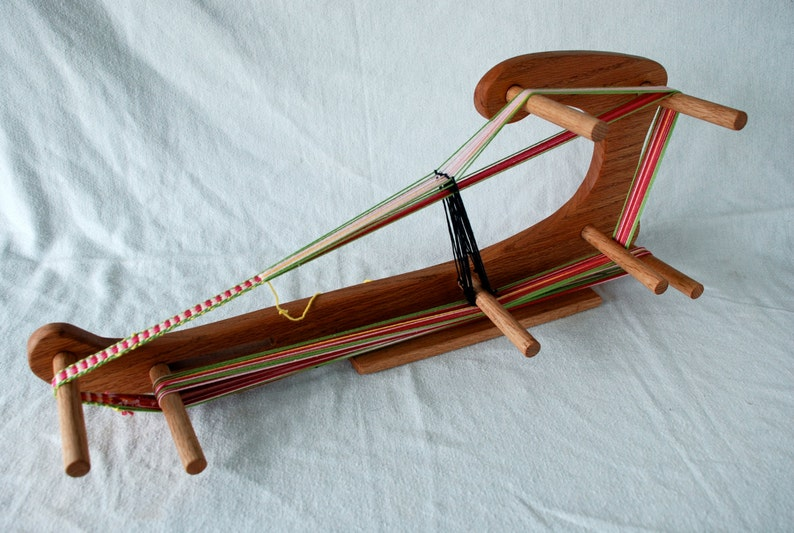 The Harp  Large Inkle Weaving Loom Made of Durable Hardwood image 0