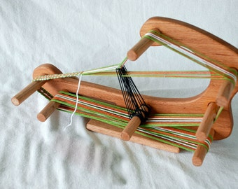 LOOM-The Minstrel - Inkle Small Travel Sized Weaving Loom-Makes 5 foot Band Lap Table Card Tablet With Shuttle