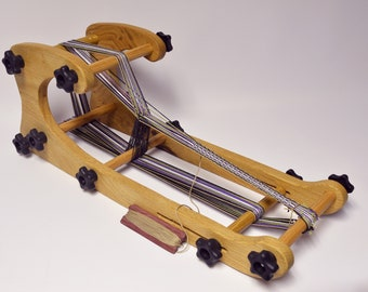 LOOM-Accordion Double Sided Loom Kit-Great for Inkle Card Rigid Heddle and Tapestry Weaving-Adjustable Sizes Multi-use