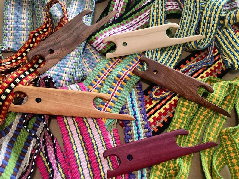 SHUTTLE-Finger Pick Shuttle in Multiple Exotic Hardwoods for image 1