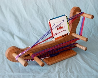LOOM-The Lute - Card Tablet Small Travel Sized Weaving Loom-Makes 5 Foot Long Band Lap Tabletop With Shuttle