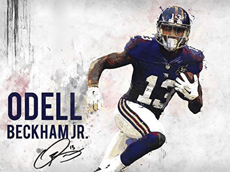 1e492924f Odell Beckham Jr Poster New York Giants Art Print 24x18