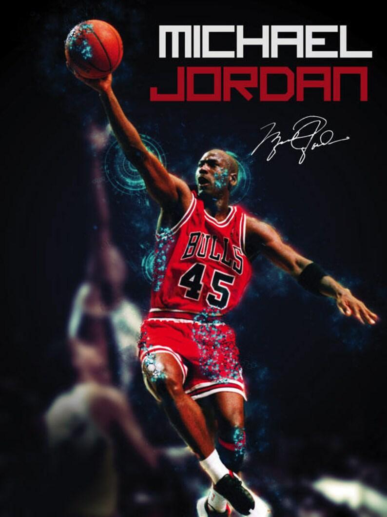 3edbf783e7db67 Michael Jordan Poster Chicago Bulls Art Print 18x24