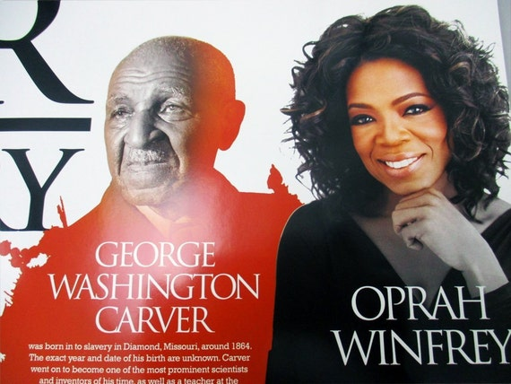 Our Black History Poster African American Famous Black People w// Biography 18x24