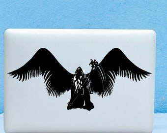 Angel of Death ,Soul Reaper, DemiGod  Decal Design For Macbook,Laptop, ETC High Quality Matte Vinyl Sticker