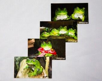 Stickyfrogs Decorative Photo Magnets - Set of 4