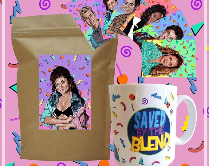 Featured listing image: Saved By The Blend Full Coffee Bundle! 250g Bag of Coffee, Ceremoc Mug and Sticker Set!