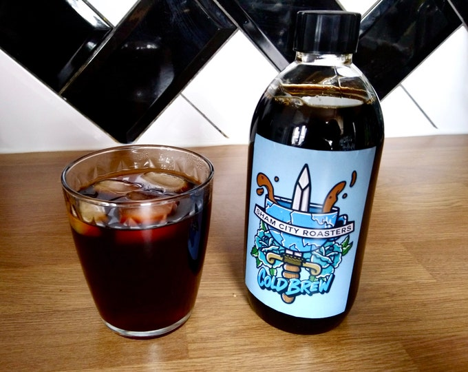 Featured listing image: Cold Brew Coffee Concentrate 500ml (10 x Cold Brew Shots) From Sham City Roasters, Vegan, Speciality Coffee Roasters, Espresso Martini