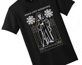 Drink What Thou Wilt T-Shirt from Sham City Roasters Hastings Legends Collection, coffee, Aleister Crowley