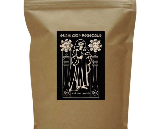 """Featured listing image: Filter Coffee, Freshly Roasted - """"Drink What Thou Wilt"""" Single Origin From Sham City Roasters, Hastings, Aleister Crowley"""