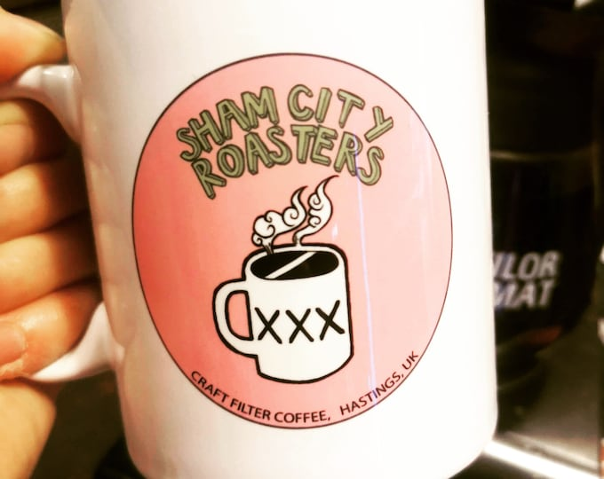 Coffee Mug Gift - Sham City Roasters Logo from Sham City Roasters, Specialist Craft Coffee Roasted In Hastings