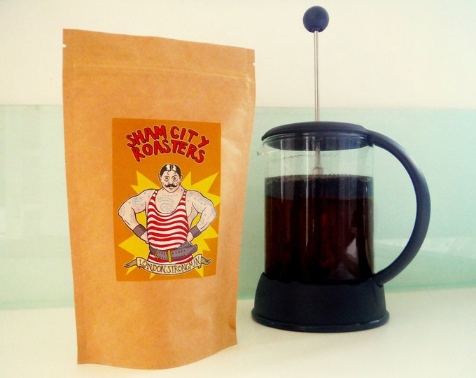 "Filter Coffee, Freshly Roasted - ""London Strongman"" Blend, from Sham City Roasters, Craft filter coffee roasted in Hastings, UK"