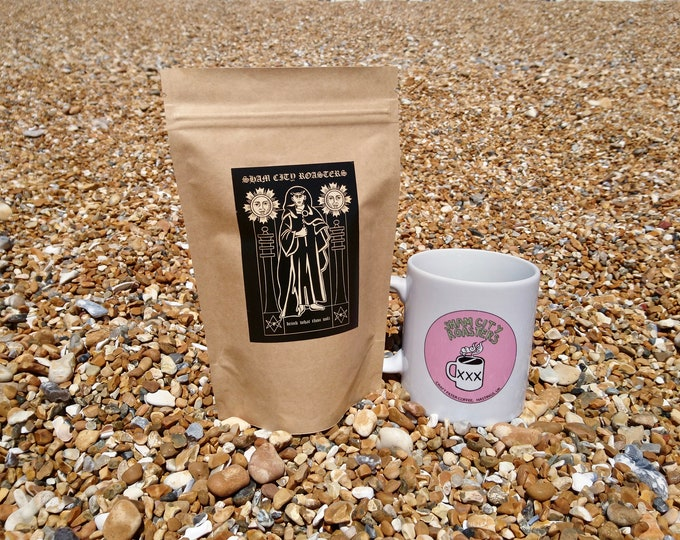 """Featured listing image: Freshly Roasted Coffee - """"Drink What Thou Wilt"""" Single Origin From Sham City Roasters, Hastings, Aleister Crowley"""