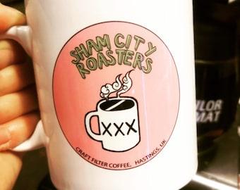 Coffee Mug Gift - Sham City Roasters Logo from Sham City Roasters, Specialist Craft Coffee Roasted In Hastings