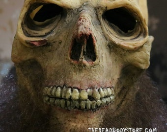 Handmade Undead Zombie Hillbilly/Pirate Full Head Latex Halloween Mask