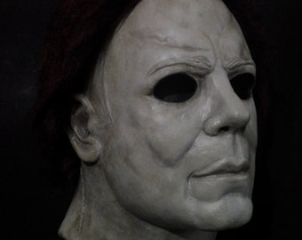 White Mask Maniac Doomed Serial Killer Halloween Deluxe Latex Mask! Scary!! 3ac6cbfe83