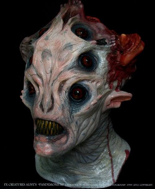 Pandemonium Deluxe Latex Mask Halloween Horror Scary Demon