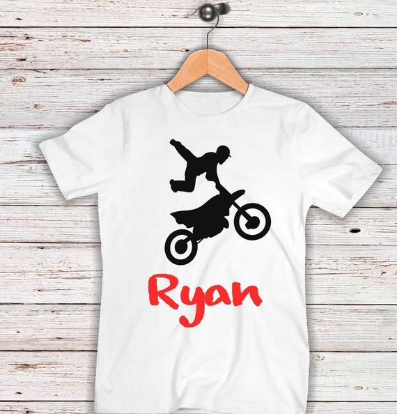 Bambino: abbigliamento Tshirt shirt Baby PRINT Motorcycle Kawasaki Custom Baby Name and Number