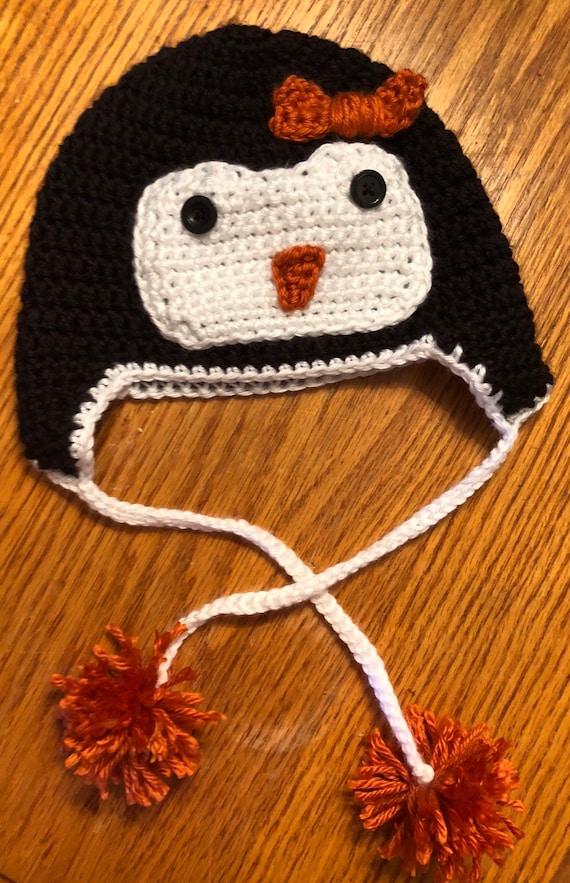 Crochet Penguin Hat Toddler Size Etsy