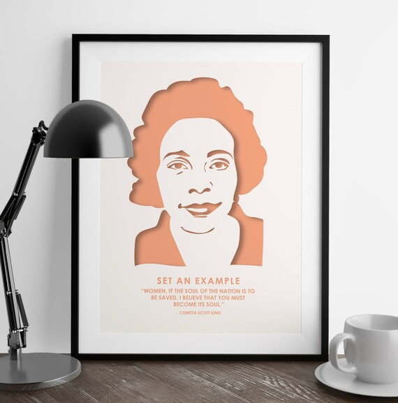 Coretta Scott King Quote Nevertheless She Persisted Etsy Custom Coretta Scott King Quotes