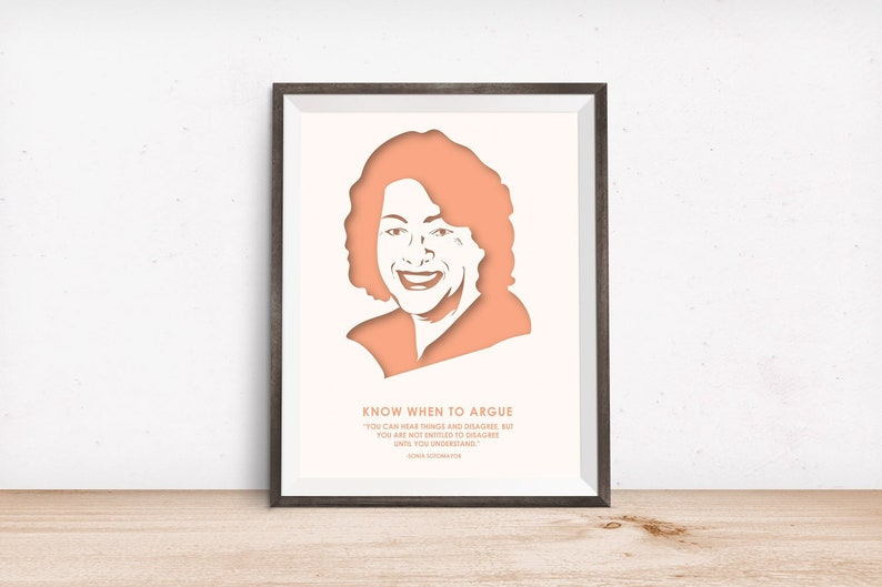 Sonia Sotomayor Quotes Law School Nevertheless She Etsy