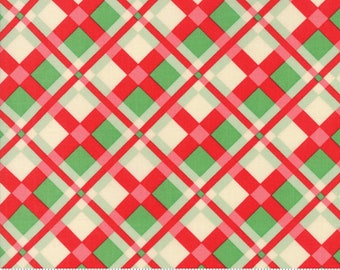 Swell Christmas Plaid Red Green Yardage by Urban Chiks for Moda