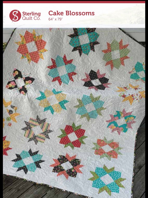 Pdf Cake Blossoms Layer Cake Friendly Quilt Pattern Etsy