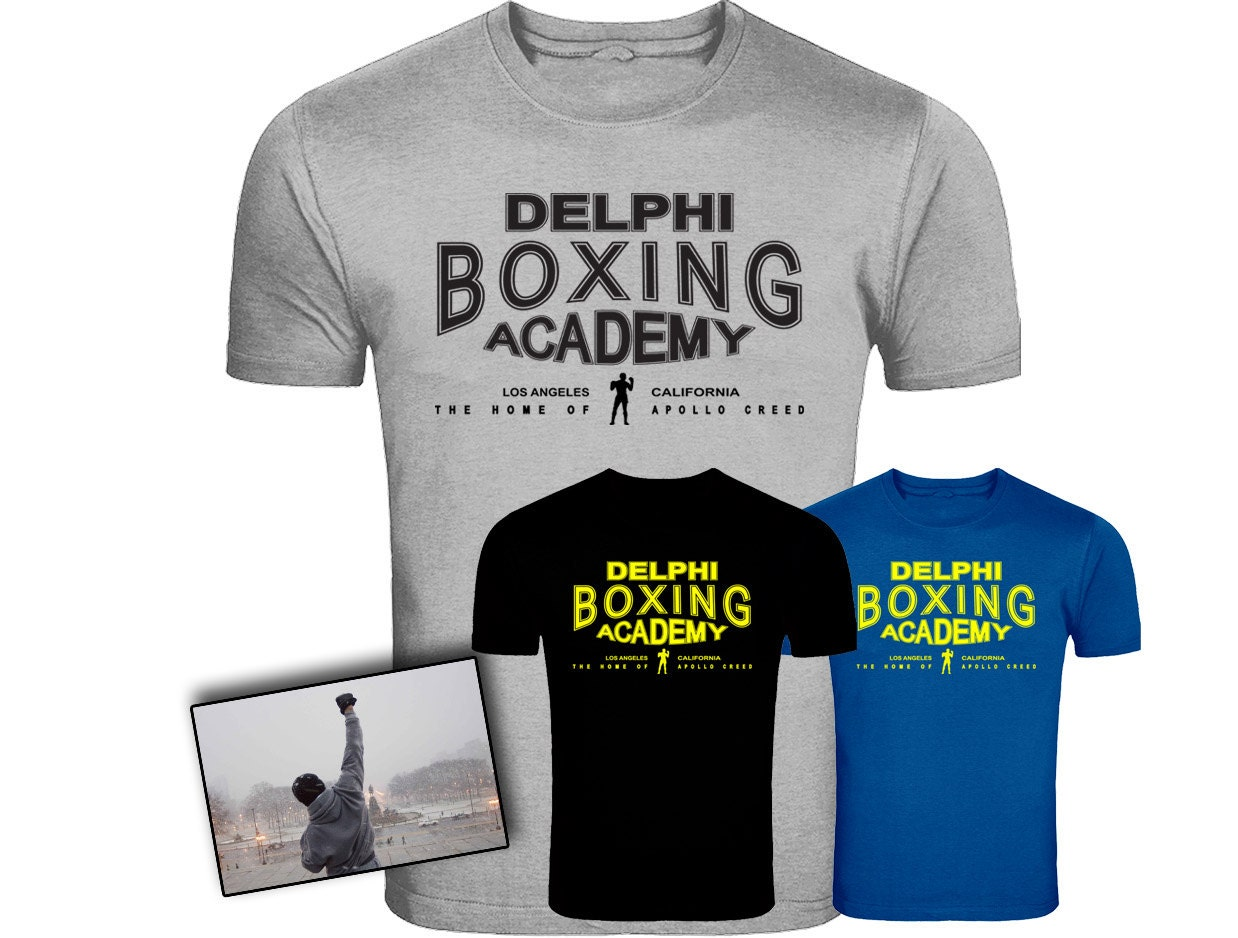 Rocky Balboa Creed Inspired Delphi Boxing Acadmey Logo T-shirt Screenprinted Unisex Tshirt