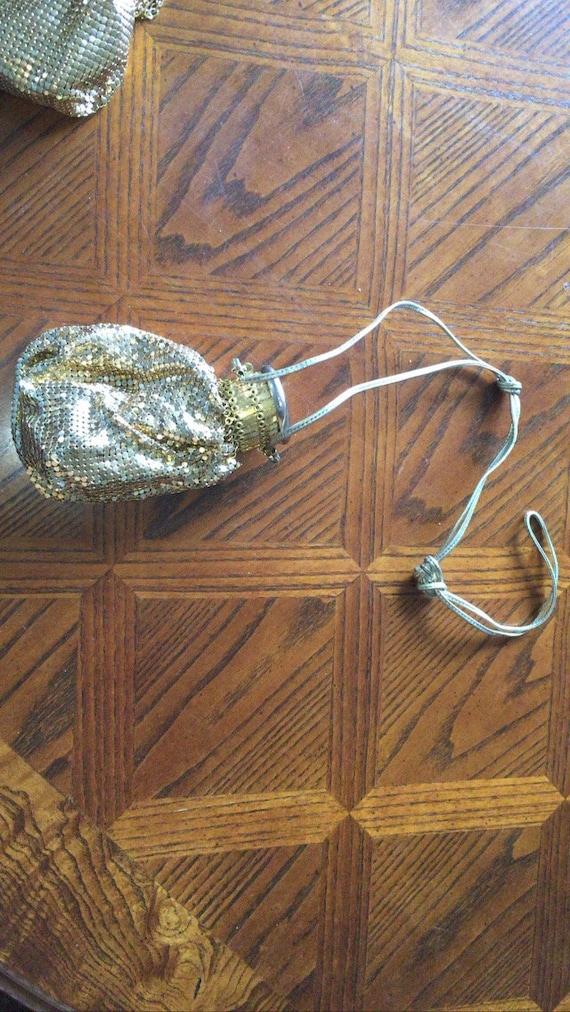 Vintage Whiting and Davis Expandable Bag