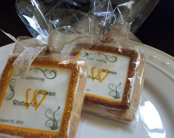Wedding Favors/Bride and Groom/Monogram Cookies
