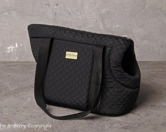 All black pet carrier ROCCO
