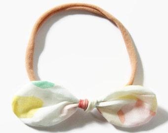 Nylon Headbands, Baby Girl Headband, Bow Headband, Newborn Headband, Nylon Baby Headband, Organic Headband, Toddler Headband, Baby Girl Gift