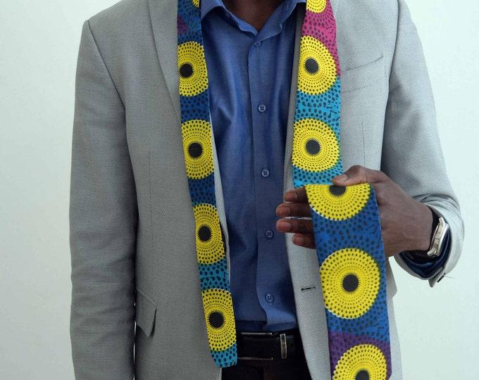 African fabric neck-tie