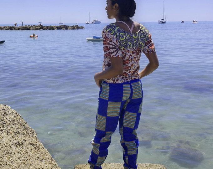 African Print Aladdin pants