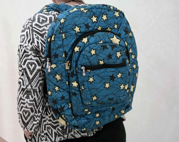 African ankara backpack