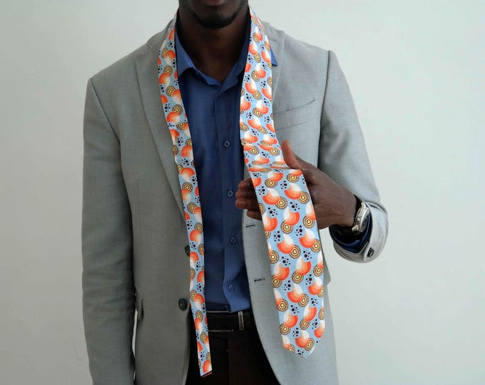 African fabric neck-tie
