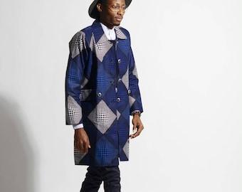 Ankara African print coat (unisex)