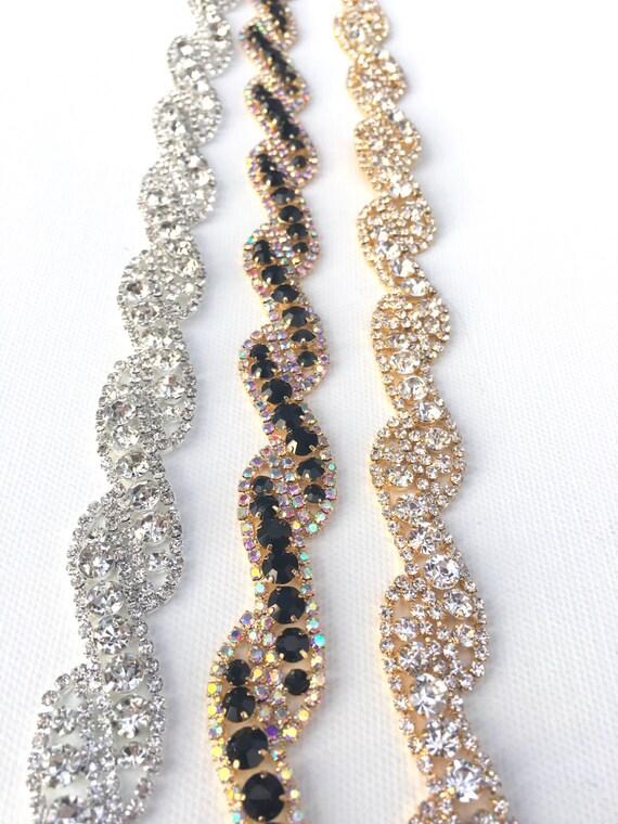 Crystal Rhinestone Trim by the Yard Wholesale gold Bridal   Etsy
