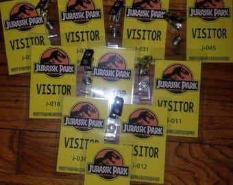Jurassic Park World Badges Visitors VIP Rangers Security Party Favor Prop