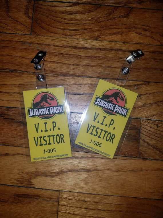 Jurassic Park World Badges Visitors VIP